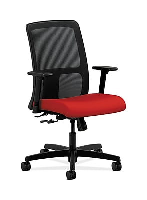 HON Ignition Fabric Computer and Desk Office Chair, Adjustable Arms, Tomato (HONIT106CU66)