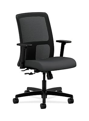 HON Ignition Fabric Computer and Desk Office Chair, Adjustable Arms, Carbon Fabric (HONIT106SX23)