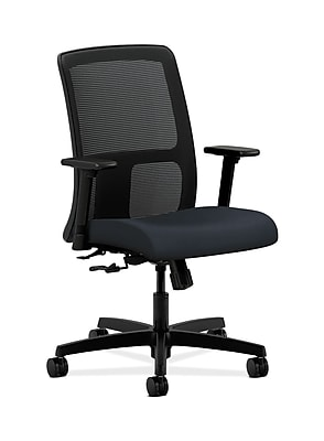 HON Ignition Fabric Computer and Desk Office Chair, Adjustable Arms, Navy (HONIT106WP37)