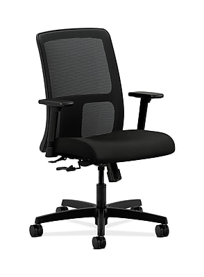 HON Ignition Fabric Computer and Desk Office Chair, Adjustable Arms, Black (HONIT106WP40)