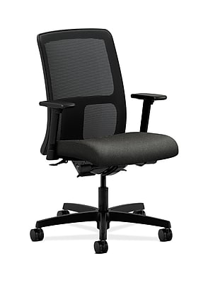 HON HONIT201AB12 Ignition Fabric-Upholstered Mesh Low-Back Office/Computer Chair, Adjustable Arms, Gray