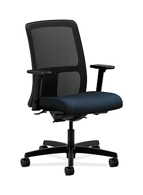 HON Ignition Fabric Computer and Desk Office Chair, Adjustable Arms, Blue (HONIT201AB90)