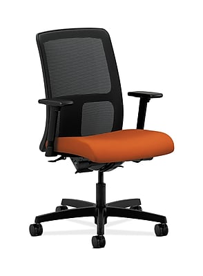 HON Ignition Fabric Computer and Desk Office Chair, Adjustable Arms, Tangerine (HONIT201CU46)