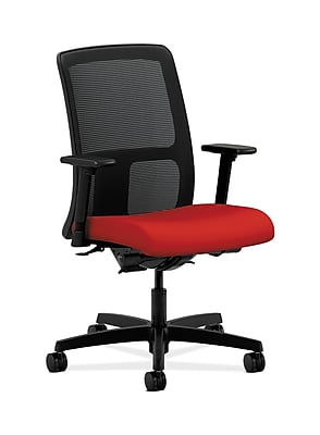 HON Ignition Fabric Computer and Desk Office Chair, Adjustable Arms, Tomato (HONIT201CU66)