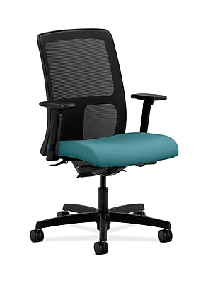 HON HONIT201CU96 Ignition Fabric-Upholstered Mesh Low-Back Office/Computer Chair, Adjustable Arms, Glacier