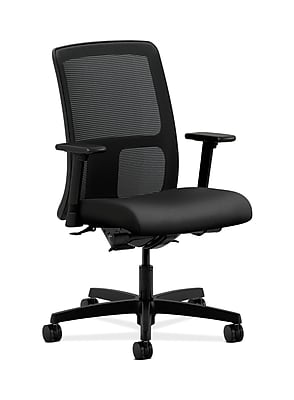 HON Ignition Fabric Computer and Desk Office Chair, Adjustable Arms, Gray/Silver (HONIT201NR10)