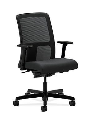 HON Ignition Fabric Computer and Desk Office Chair, Adjustable Arms, Charcoal (HONIT201NT19)