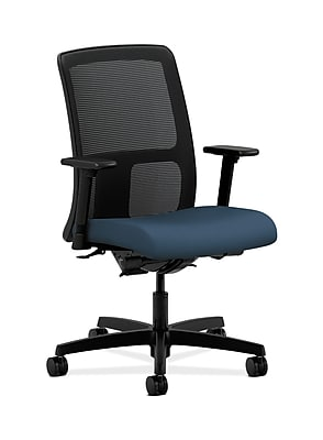 HON Ignition Fabric Computer and Desk Office Chair, Adjustable Arms, Jet (HONIT201SX05)