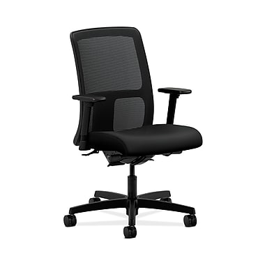 HON Ignition Fabric Computer and Desk Office Chair, Adjustable Arms, Black (HONIT201UR10)