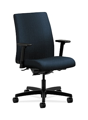 HON Ignition Fabric Computer and Desk Office Chair, Adjustable Arms, Blue (HONIT202AB90)