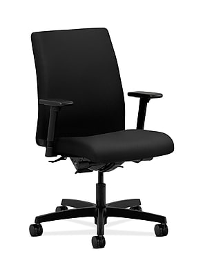 HON Ignition Fabric Computer and Desk Office Chair, Adjustable Arms, Black (HONIT202NT10)