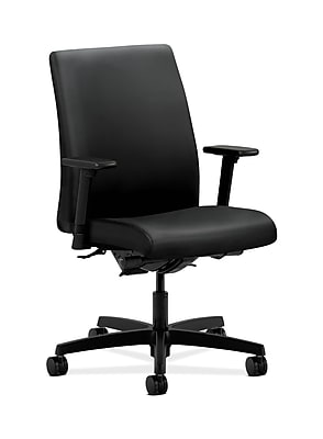 HON Ignition Fabric Computer and Desk Office Chair, Adjustable Arms, Black (HONIT202UR10)