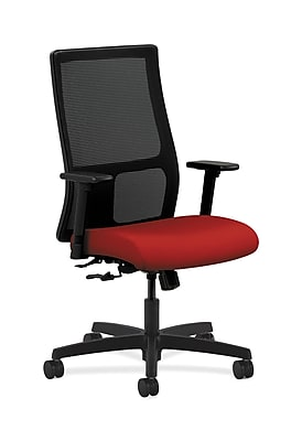 HON Ignition Fabric Computer and Desk Office Chair, Adjustable Arms, Tomato (HONIW101CU66)