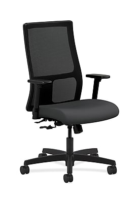 HON Ignition Fabric Computer and Desk Office Chair, Adjustable Arms, Carbon Fabric (HONIW101SX23)