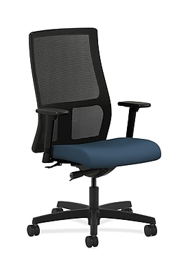 HON Ignition Mesh Computer and Desk Office Chair, Adjustable Arms, Jet (HONIW103SX05)
