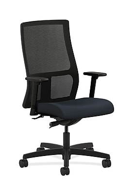 HON Ignition Mesh Computer and Desk Office Chair, Adjustable Arms, Navy (HONIW103WP37)