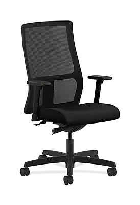 HON Ignition Mesh Computer and Desk Office Chair, Adjustable Arms, Black (HONIW103WP40)