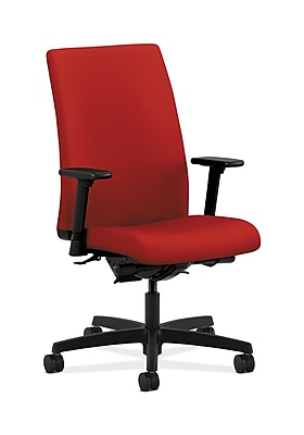 HON Ignition Fabric Computer and Desk Office Chair, Adjustable Arms, Tomato (HONIW104CU66)