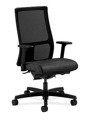 HON Ignition Fabric Computer and Desk Office Chair, Adjustable Arms, Onyx (HONIW108AI10)