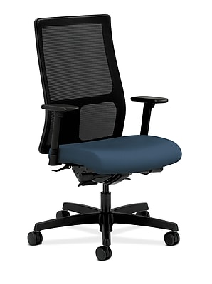 HON Ignition Fabric Computer and Desk Office Chair, Adjustable Arms, Jet (HONIW108SX05)