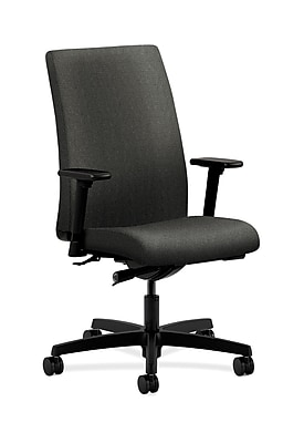 HON Ignition Fabric Computer and Desk Office Chair, Adjustable Arms, Gray (HONIW114AB12)