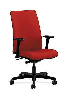 HON Ignition HONIW114CU66 Fabric Mid-Back Office/Computer Chair, Adjustable Arms, Tomato