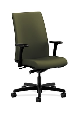 HON Ignition Fabric Computer and Desk Office Chair, Adjustable Arms, Olivine (HONIW114CU82)