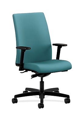 HON Ignition Fabric Computer and Desk Office Chair, Adjustable Arms, Glacier (HONIW114CU96)