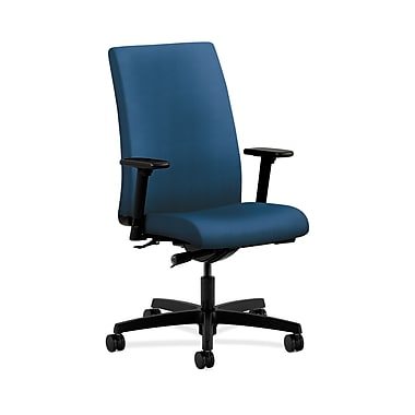 HON Ignition Fabric Computer and Desk Office Chair, Adjustable Arms, Regatta (HONIW114NR90)