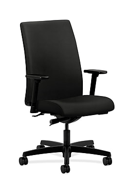 HON Ignition Fabric Computer and Desk Office Chair, Adjustable Arms, Black (HONIW114WP40)