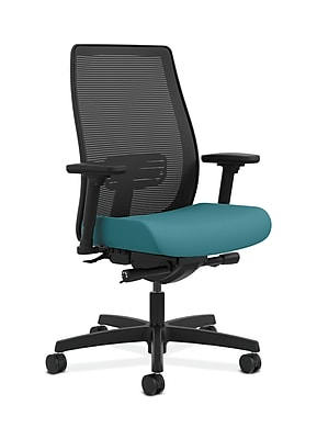 HON Endorse Fabric Computer and Desk Office Chair, Adjustable Arms, Glacier (HONLWIM2ACU96)