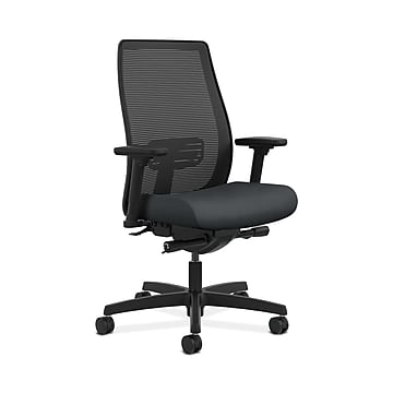 HON HONLWIM2ANR10 Endorse Collection Mesh Mid-Back Office/Computer Chair, Adj. Arms, Onyx Fabric
