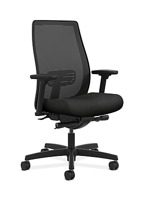 HON Endorse Fabric Computer and Desk Office Chair, Adjustable Arms, Black (HONLWIM2ANT10)