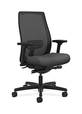 HON Endorse Fabric Computer and Desk Office Chair, Adjustable Arms, Charcoal (HONLWIM2ANT19)