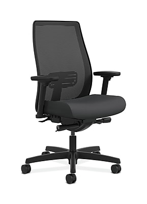 HON Endorse Fabric Computer and Desk Office Chair, Adjustable Arms, Carbon Fabric (HONLWIM2ASX23)