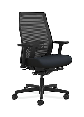 HON Endorse Fabric Computer and Desk Office Chair, Adjustable Arms, Navy (HONLWIM2AWP37)