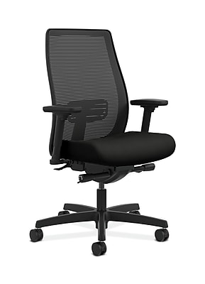 HON Endorse Fabric Computer and Desk Office Chair, Adjustable Arms, Black (HONLWIM2AWP40)