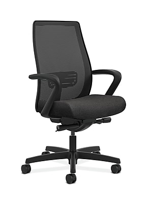 HON Endorse Mesh Computer and Desk Office Chair, Fixed Arms, Black (HONLWIM2FAB10)