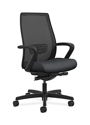 HON Endorse Fabric Computer and Desk Office Chair, Adjustable Arms, Onyx (HONLWIM2FNR10)