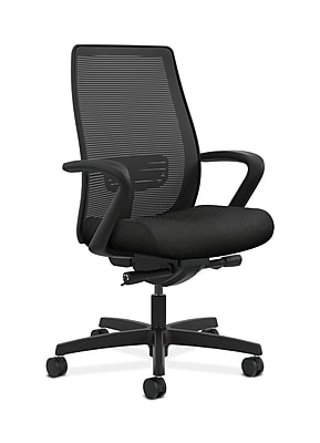 HON Endorse Mesh Computer and Desk Office Chair, Fixed Arms, Black (HONLWIM2FNT10)