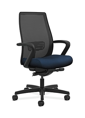 HON Endorse Fabric Computer and Desk Office Chair, Fixed Arms, Mariner (HONLWIM2FNT90)
