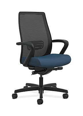 HON Endorse Fabric Computer and Desk Office Chair, Fixed Arms, Blue (HONLWIM2FSX05)