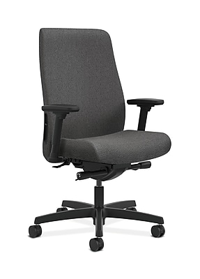 HON Endorse Fabric Computer and Desk Office Chair, Adjustable Arms, Gray (HONLWU2AAB12)