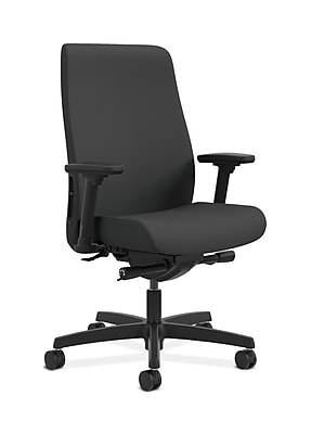 HON Endorse Fabric Computer and Desk Office Chair, Adjustable Arms, Iron Ore (HONLWU2ACU19)