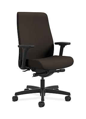 HON Endorse Fabric Computer and Desk Office Chair, Adjustable Arms, Espresso (HONLWU2ACU49)