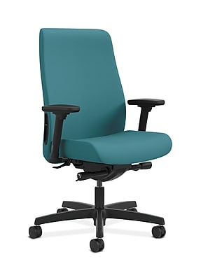 HON Endorse Fabric Computer and Desk Office Chair, Adjustable Arms, Glacier (HONLWU2ACU96)