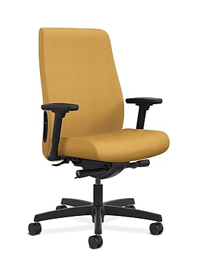 HON Endorse Fabric Computer and Desk Office Chair, Fixed Arms, Mustard (HONLWU2ANR26)