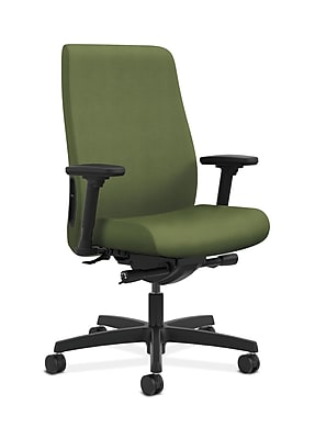 HON HONLWU2ANR74 Endorse Collection Fabric-Upholster Mid-Back Office/PC Chair, Adj. Arms, Clover