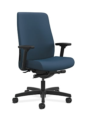 HON Endorse Fabric Computer and Desk Office Chair, Adjustable Arms, Jet (HONLWU2ASX05)