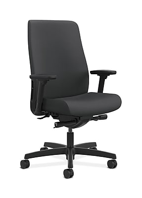 HON Endorse Fabric Computer and Desk Office Chair, Adjustable Arms, Carbon Fabric (HONLWU2ASX23)